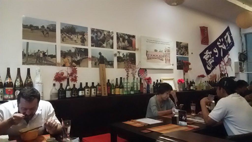 プノンペン 日本食ラーメン店内