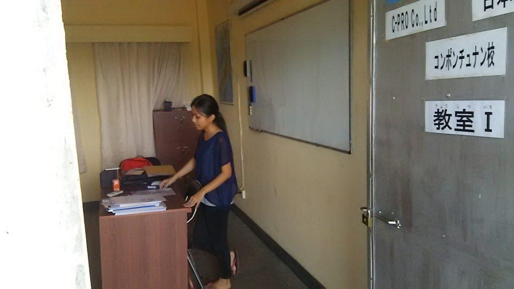 カンボジア学校 教室