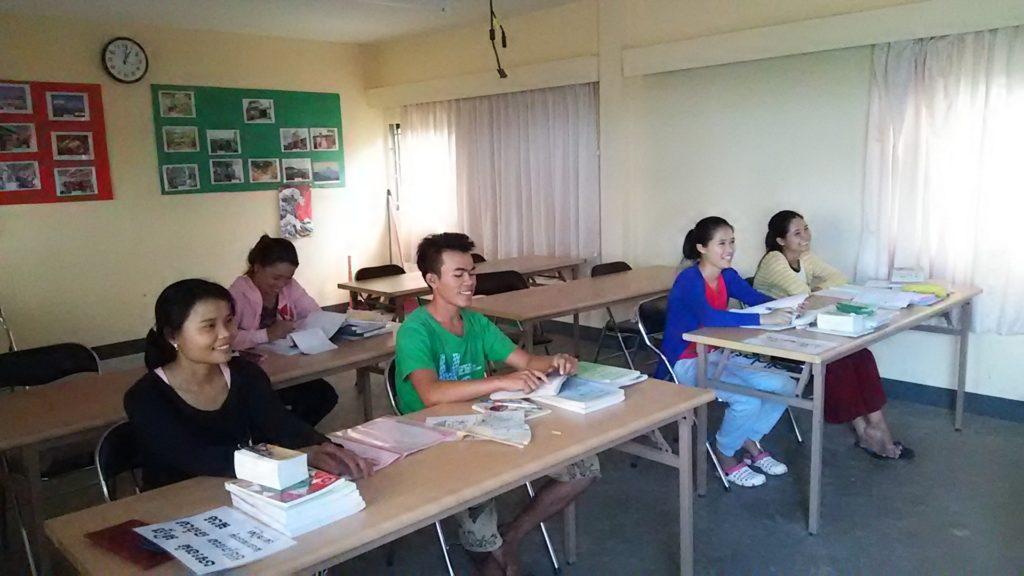 カンボジア学校 授業
