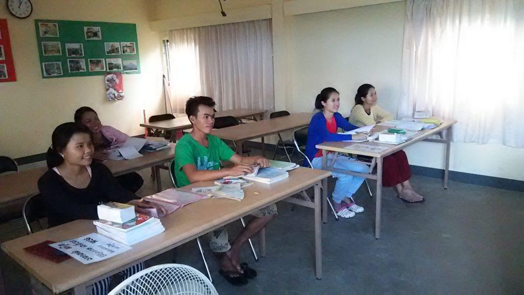 カンボジア学校 日本語授業