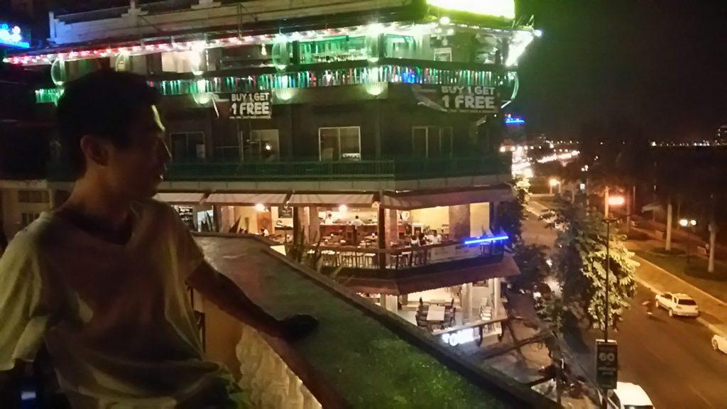 カンボジア リバーサイド夜景2