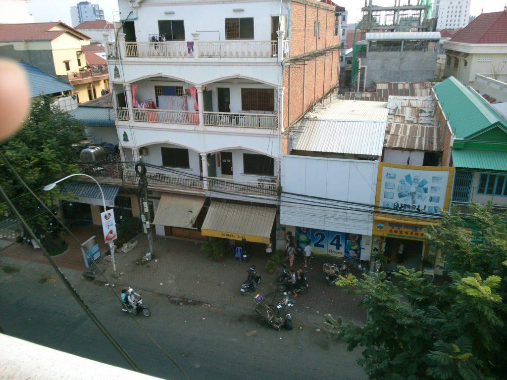 カンボジア ゲストハウス景色