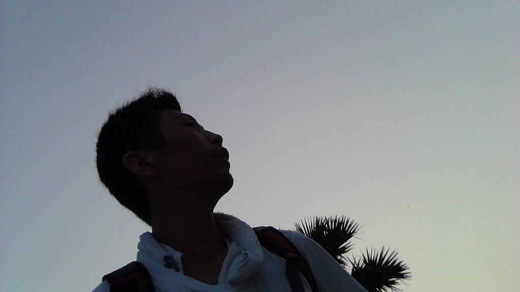アンコールワット早朝 空