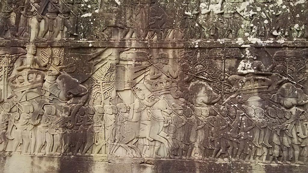 バイヨン寺院 壁画