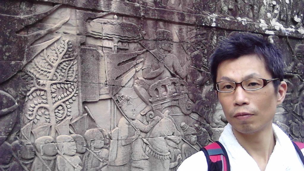 バイヨン寺院 壁画 王