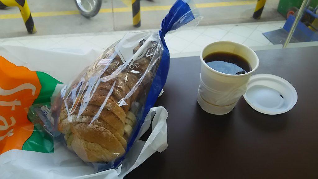 シェムリアップ コンビニ朝食