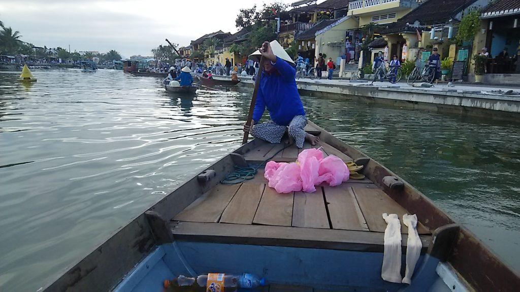 ホイアン ボート漕ぎ